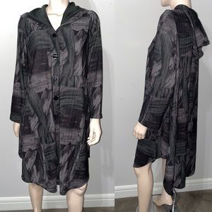 I.C By Connie K Hooded Coat Jacket XL
